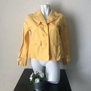 Loft Women jacket three buttons front size 4